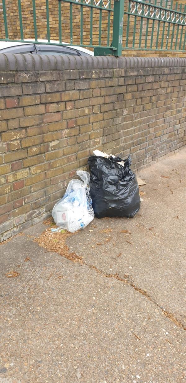 2x bags, black bag with household waste, and clear bag also with household waste - no evidence -20 Stondon Walk, East Ham, E6 1LZ