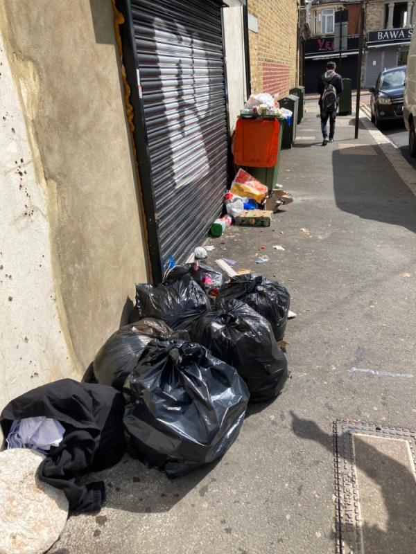 Messy fly tip-403 Green Street, Plaistow, E13 9AU