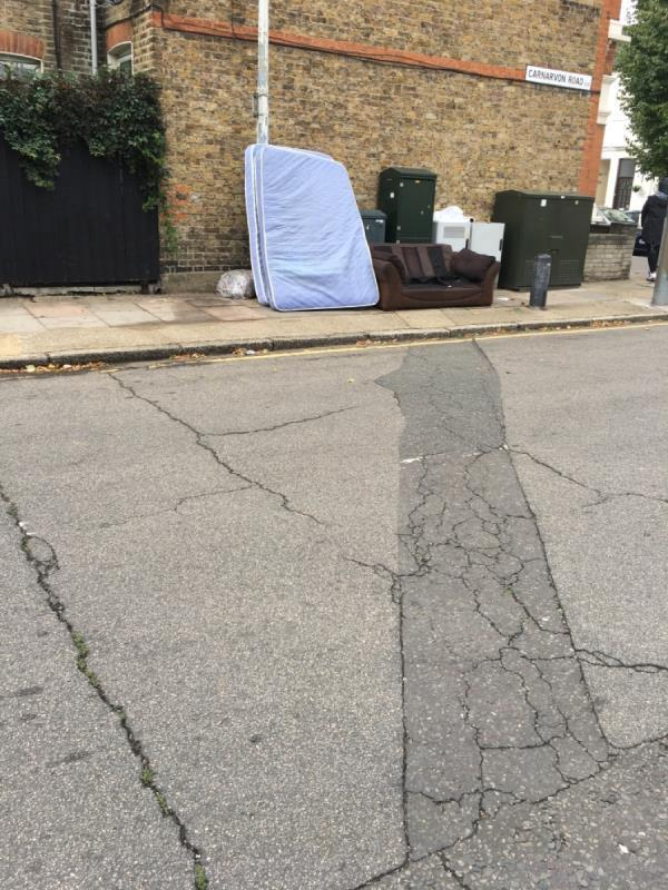 Fly tip-112 Keogh Road, London, E15 4NT