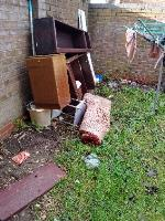 fly tipping rear communal garden 26-28 spring Terrace  image 1-26 Spring Terrace, Reading, RG2 0BD