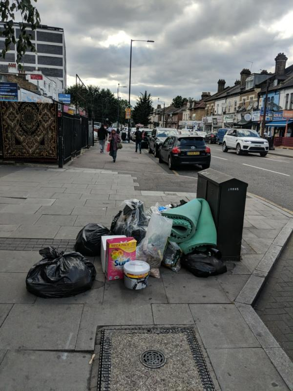 15x sacks of wood waste and form near the 292- 296 Romford Rd -Garland House, 302 Romford Road, London, E7 9HD