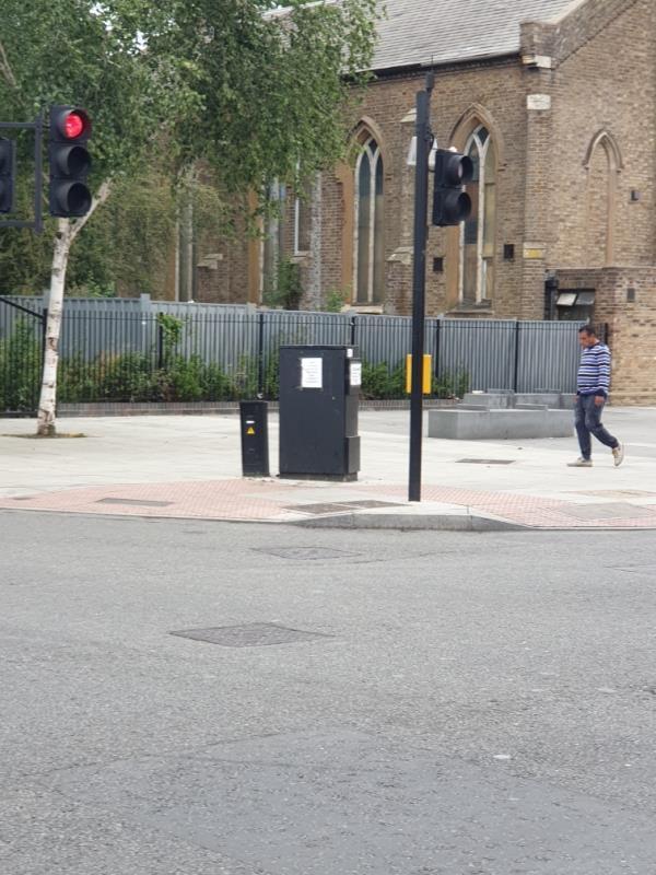 on traffic light signal box-Western Road, London, UB2 4DA