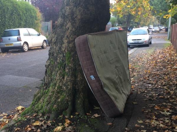 Bed mattress dumped in Road -29 Westcote Road, Reading, RG30 2DE