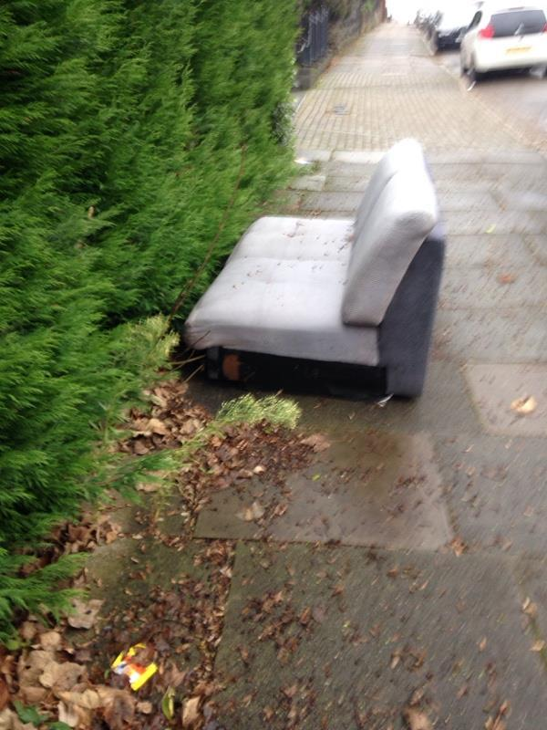 Dumped sofa-46 Eastfield Rd, Leicester LE3 6FF, UK