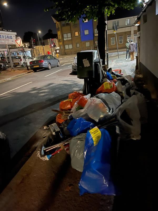Same pile of rubbish found around 3pm today - loads more added on to the pile when we came back around 9pm. Environmental Crime Scene sticker is not working!-931C Romford Rd, London E12 5JT, UK