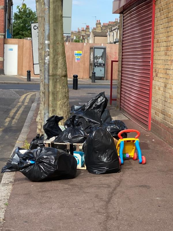 Mass fly tip -406 High Street North, London, E12 6RH