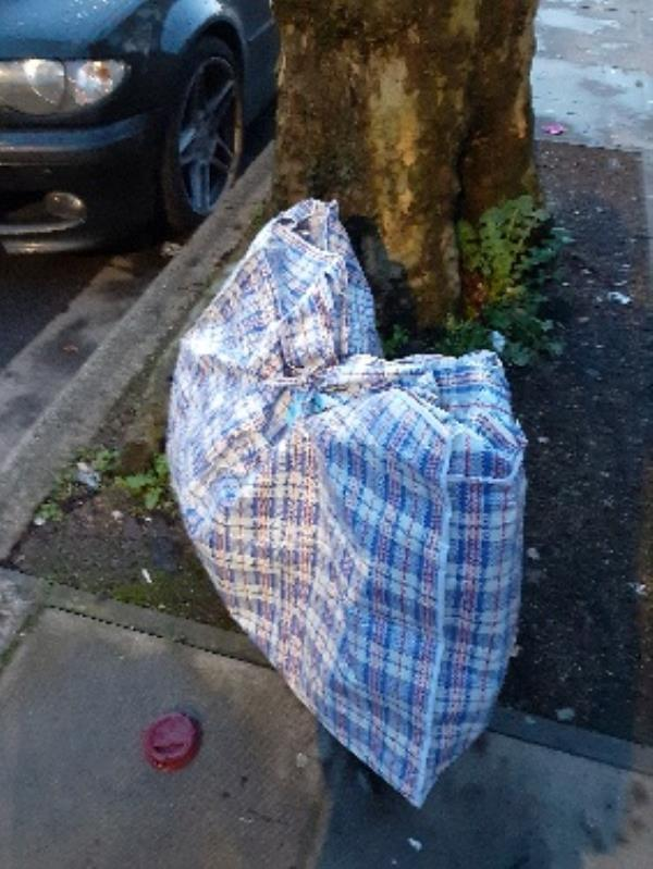 fly tipping outsidr no.8-9 St Martins Avenue, London, E6 3DU