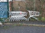 abandoned trolleys - increased in numbers since last reported.-69 Woodgreen Road, Leicester, LE4 9UD