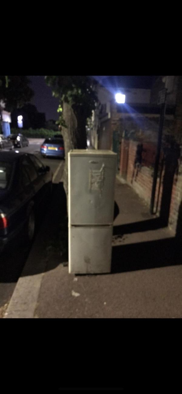 Fridge fly tipped. Witnessed by neighbour. Reported on neighbourhood watch group. Dumped residents at 400 Sherrard road. -402b Sherrard Road, London, E12 6UQ