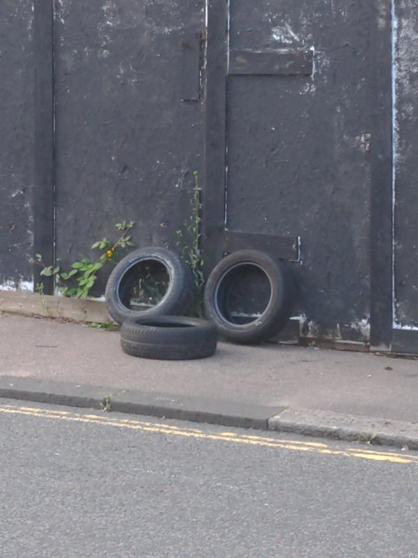 Fly-tipped tyres-24 Springbank Road, London, SE13 6SN