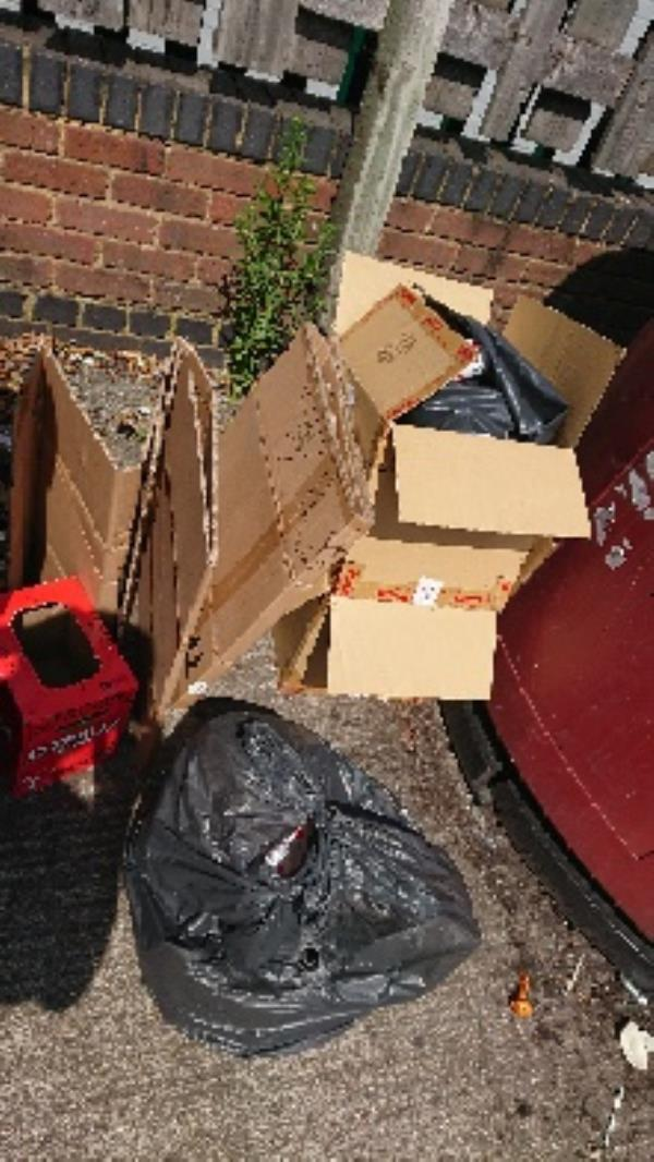 House old waste removed fly tipping on going at this site -Gresham Way Industrial Estate Gresham Way, Reading, RG30 6AW