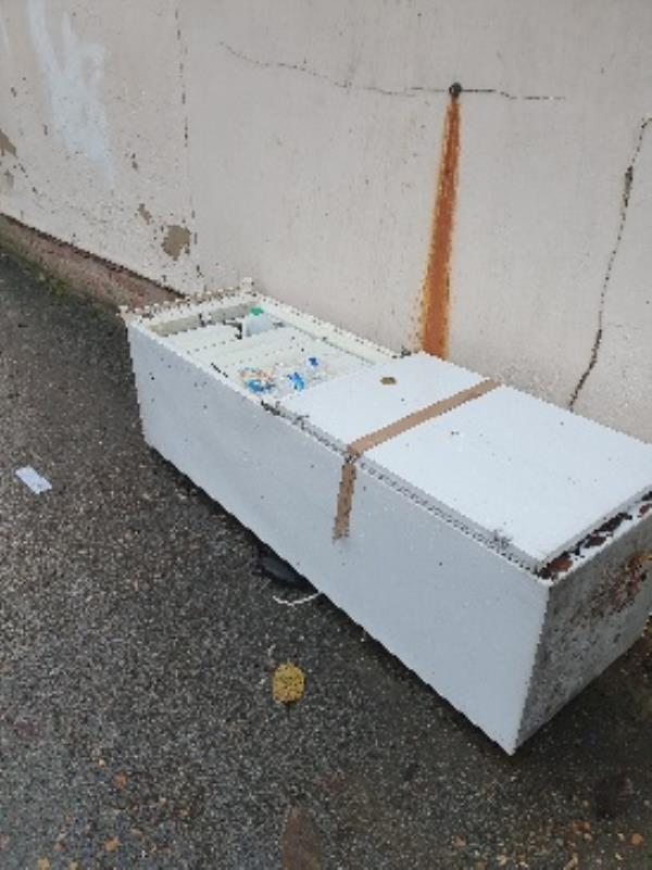 Dumped fridge on Gordon Place-110 Sherwood Street, Reading, RG30 1LF