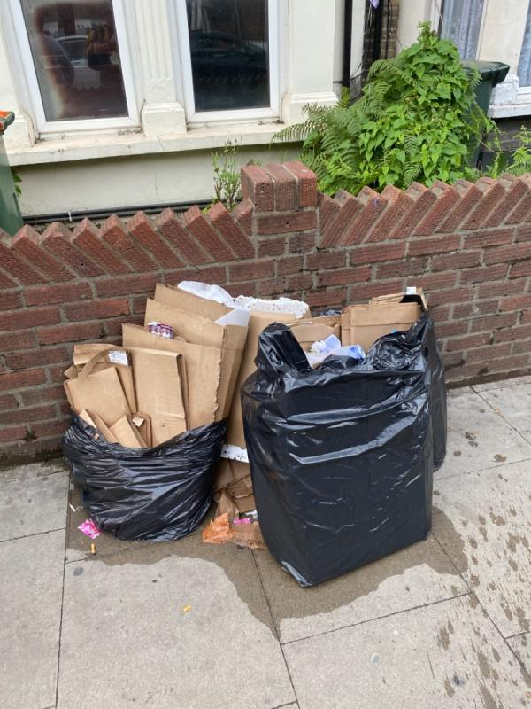 More fly tipping -566 Green Street, East Ham, E13 9AX