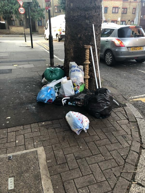 Usual daily house dump by tree Lawrence road -126a West Green Road, London, N15 5AA