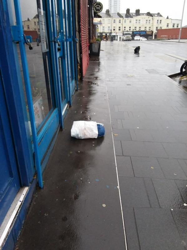 Litter and Bin Bags left at this location-160 The Grove, London, E15 1NS