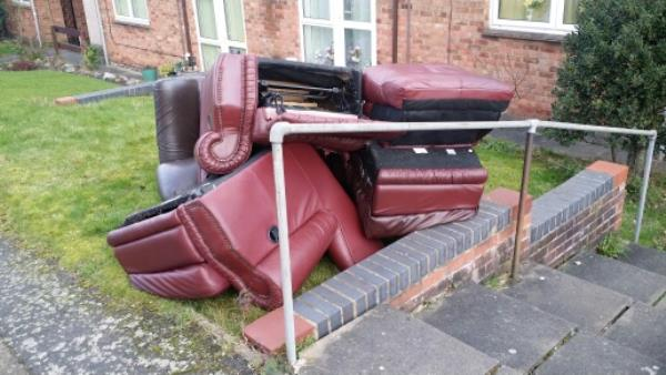 Dumped furniture outside 78 BLACKMORE DRIVE, LEICESTER -132 Highcross Street, Leicester, LE1 4PH