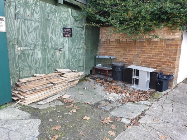 all kind of waste left around 4:40 by a man, brought from back yard which doors he later blocked off with his waste. was captured on cctv.-463 Barking Road, London, E13 8PS
