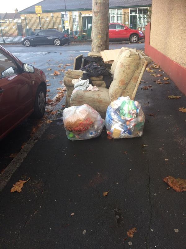 Fly tipping 😞-96 Hall Road, London, E6 2ND