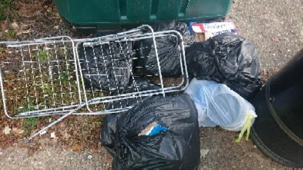 House hold waste removed fly tipping on going at this site -6 Benyon Court BATH, Reading, RG1 6JD