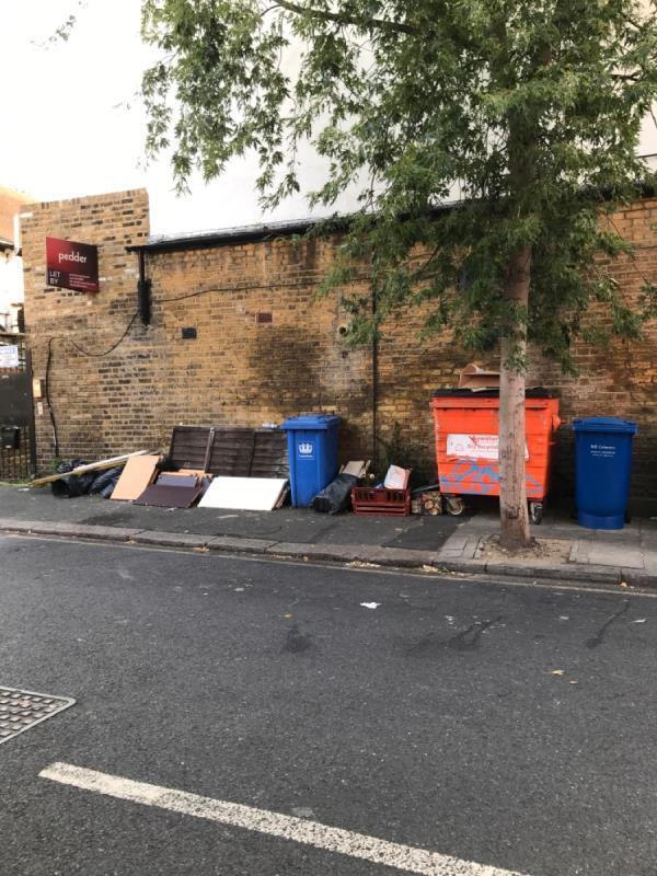 Gillian St wood rubble -107b Ladywell Road, Lewisham, SE13 7JA