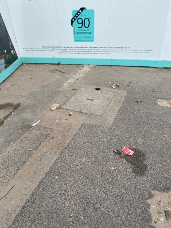 Litter all over floor on priory road -59a BARKING, Plaistow, E6 1PP