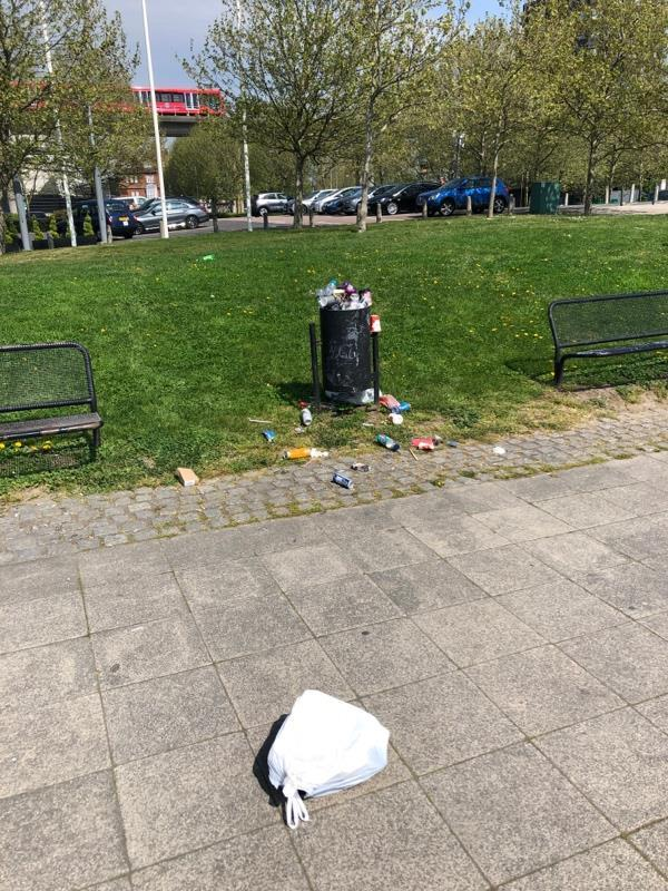 Overflowing bin - can there be a rubbish collection during the long Easter weekend each year?-2 Festoon Way, Royal Docks, London E16 1RH, UK