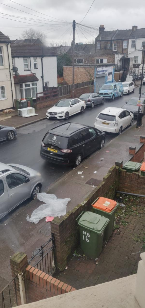 white goods on footpath-18 Colchester Avenue, London, E12 5LE