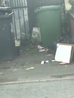 More rubbish from bottom of road-77 Powell Street, Wolverhampton, WV10 0BW
