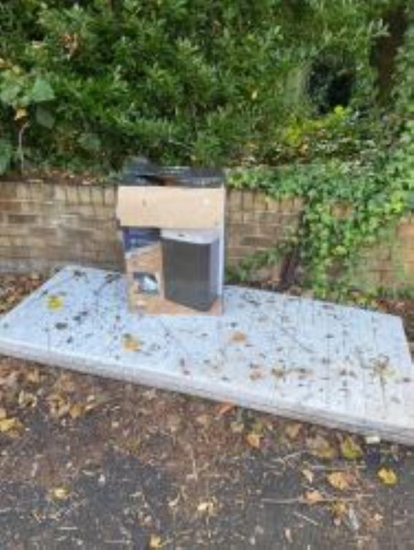 A mattress and box have been dumped outside 11 Manor Park.  Reported via Fix My Street-11 Manor Park