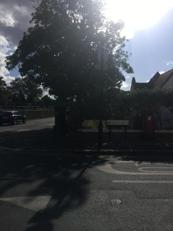 Blown facing wrong way @ junction with Odessa -120 Forest Lane, London, E15 4NT