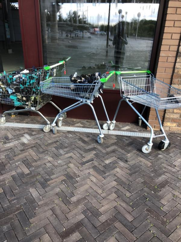 Trollies this was also last week come and pick them Up !-13 Atlantis Avenue, London, E16 2UE
