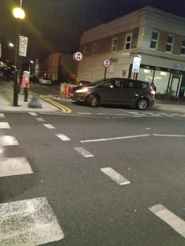 Car parked in front of planters at Henniker road off Leytonstone Road E15-135a Leytonstone Road, London, E15 1LH