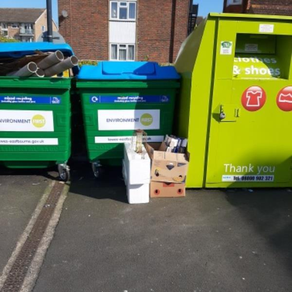 SEESL from NP Zone2 EBC 1st April 3.40pm please could you clear the side waste at the Waitrose bring site.   thank you-Crowne House Star Road, Eastbourne, BN21 1NG