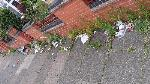 Weeds on pavement & accumulated rubbish on Turner Road/Hallaton Rd corner. image 1-74 Turner Road, Leicester, LE5 0QA