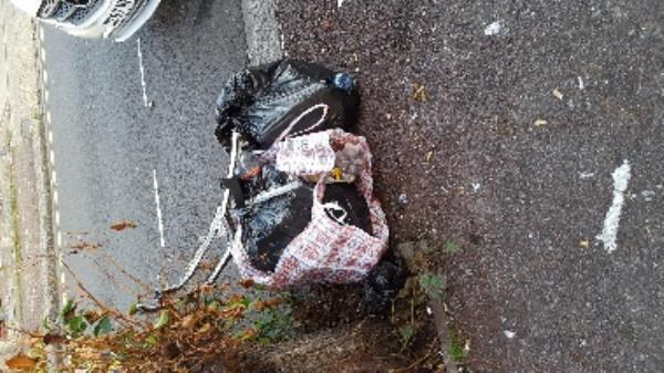 general fly tipping beside first tree on monega road near 398-362 Monega Road, London, E12 6TY