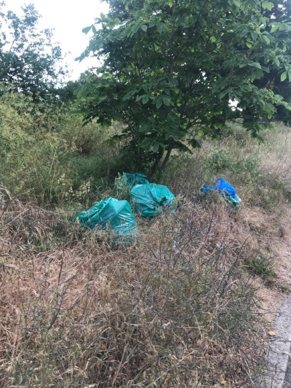 Bags dumped edge of flats -53 Capel Road, London, E7 0JP