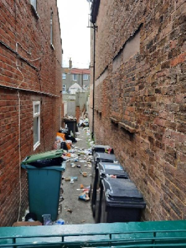 sidewaste/litter to be cleared please, evidence found from several properties -30 Bourne Street, Eastbourne, BN22 8AQ
