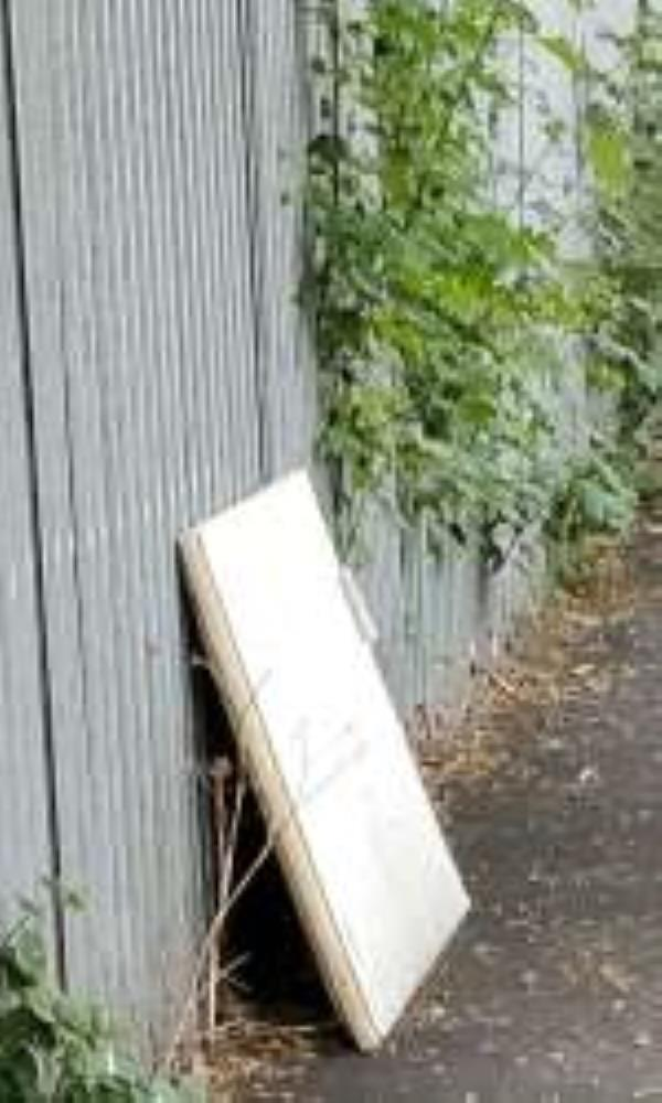Please clear a mattress. Reported via Fix My Street-Further green road