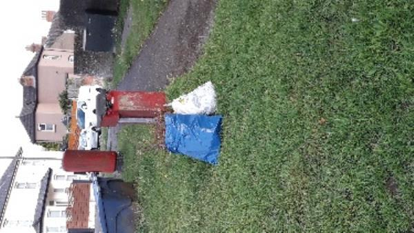 fly tipping near dog fouling bin -75 Alexandra Rd, Aldershot GU11 1QN, UK