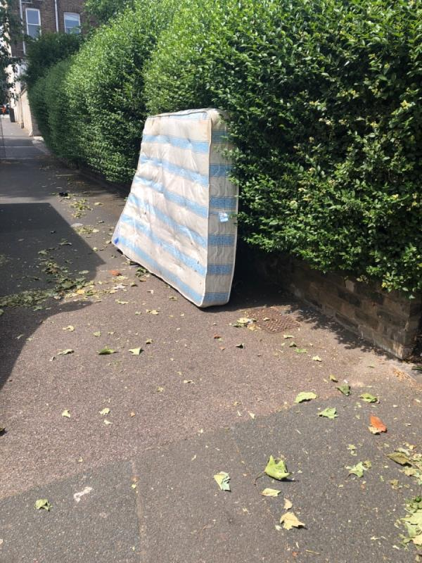 Mattress left on pavement -3 Hampton Road, London, E7 0PD