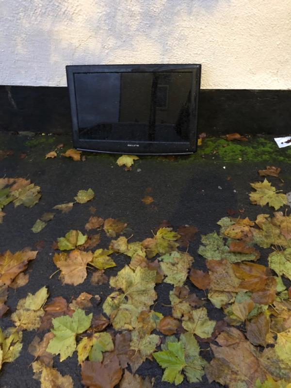 Tv dumped at top end of Maxwell Road,  All Saints -75 Vicarage Road, Wolverhampton, WV2 1DH