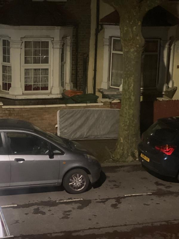Fly tipped mattress between 1845 and 1905-62 Latimer Avenue, London, E6 2LH