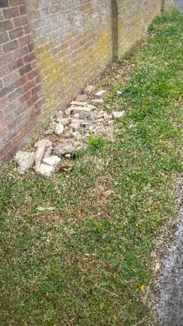 I believe the smashed concrete rubble is coming from the side of 420 Northumberland avenue. Not taken needs invasigating.  image 1-426 Northumberland Avenue, Reading, RG2 8NR