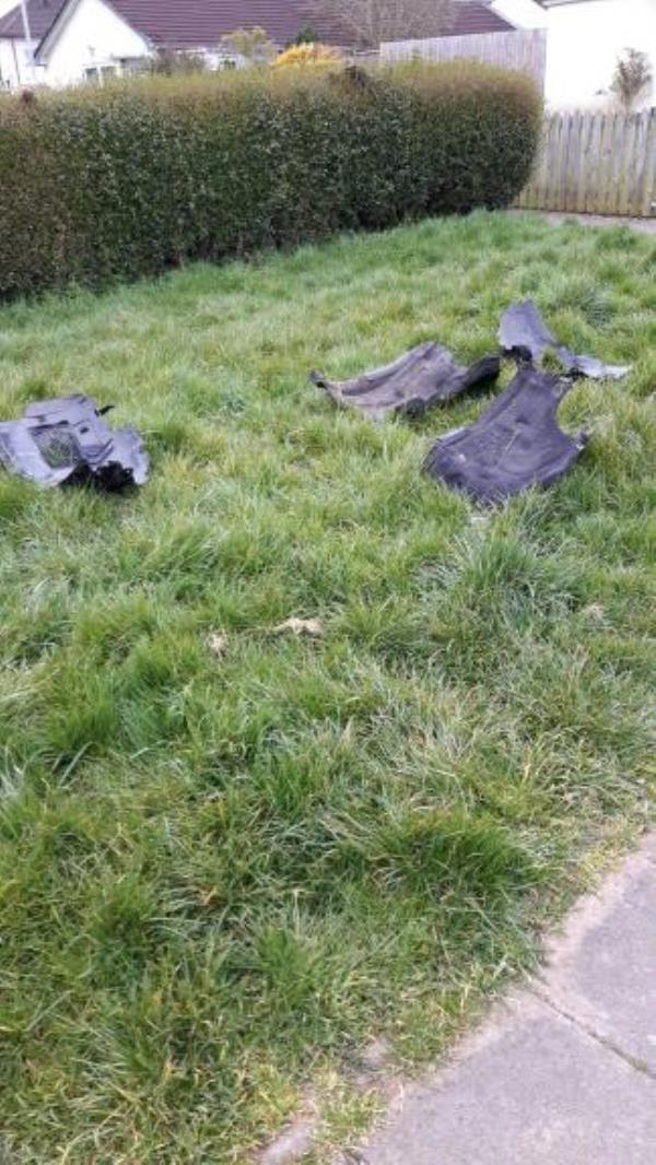 Fly-tipped on grass.-19 Bentinghouse Road, Leicester, LE2 9BG