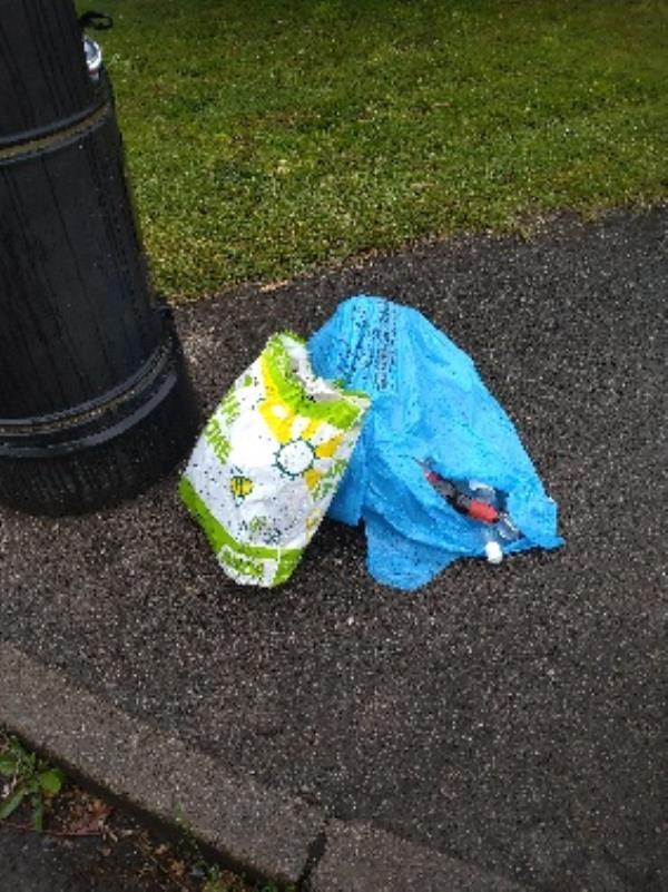 Flytipped bags no evidence /taken -95 Circuit Ln, Reading RG30 3HH, UK