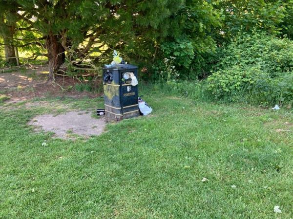 Overflowing bin -67 Ively Road, Farnborough, GU14 0JP
