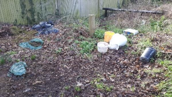 fly tipping end of Whitley Wood lane. -9 Whitley Park Lane, Reading, RG2 7BE