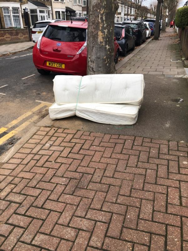 Rolled up double mattress-96 Halley Road, Upton Park, E7 8DU