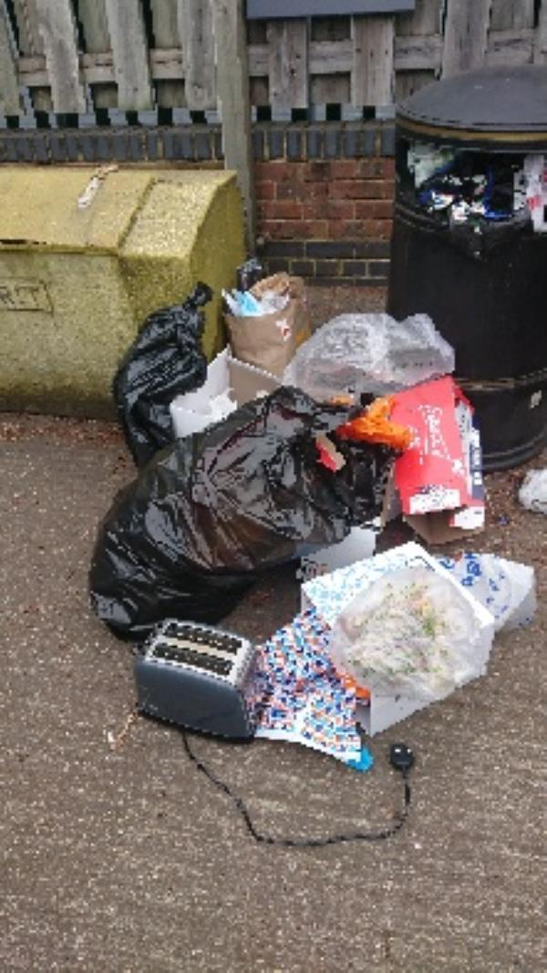 House old waste removed fly tipping -Gresham Way Industrial Estate Gresham Way, Reading, RG30 6AW