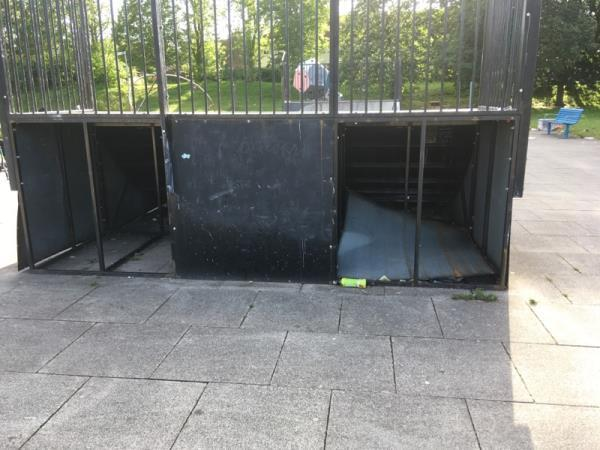 Noticed the panel on the skateboarding ramp at the Lifestyle centre has not been replaced, also the panel near this area has been damaged and the other side near the grass area the panel is missing. Can this be viewed and repaired please. -The Drumber, Winsford, CW7 1BL